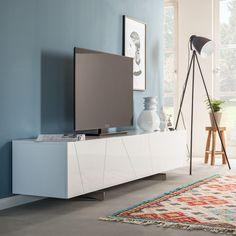 Tv-meubel Miami - hoogglans wit