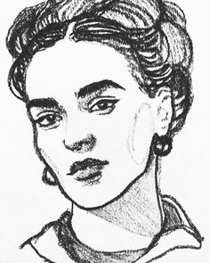"From the Instagram of golovchenkodarya: ""#фридакало #Фрида #художник #портрет #графика #fridacalo #art #draw #paint #illustration #linework #beauty #woman #womanpower #gallery #vscowoman #instaart #figuredrawing #worldart #pensildrawing #instadaily #figure #igdaily #line #liner #ink #арт #рисунок #уголь"""