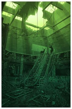 """Daniel Danger - """"a headlight in the path of our breathing, a quiet little sound we can live in. Post Apocalypse, Apocalypse Aesthetic, Fantasy World, Fantasy Art, Mundo Design, Post Apocalyptic Art, Arte Cyberpunk, Environmental Art, Fantasy Landscape"""