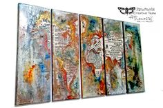 Me and myself...: Color your world - mixed media canvases