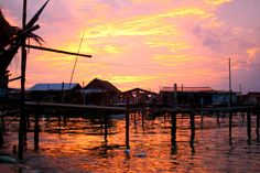 #Postcard Sunset on Mabul Island