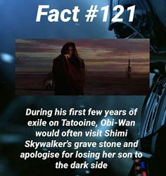 Wow, I did not know this. That is so sad, he blamed himself for Anakin's fall
