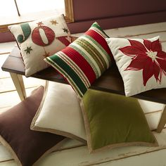 Homespun for the holidays: Pier 1's handcrafted pillows can bring a little more joy to your world.