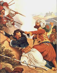 9 Jan, Greeks  under Makrigiannis fight against Kioutahes pasha at Pireaus. from the sea side