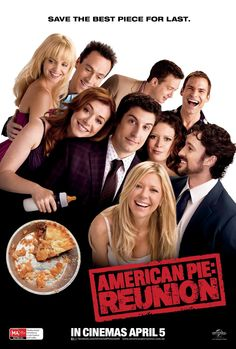 I love the series of American Pie movies! I feel like they are my family almost! The whole American Pie gang returns to make their reunion into the most outrageous weekend since high school. Watch American Reunion on American Pie 4, American Pie Movies, Image American, Alyson Hannigan, Seann William Scott, Tara Reid, 2012 Movie, Movie Tv, East Great Falls