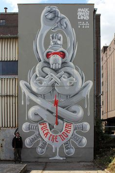 "The German artist Mark Gmehling began with Street Art in the late 80s, and he now creates impressive murals with leitmotiv ""In Style We Trust"" as modern mantras taking place on the walls of the city… Beautiful"
