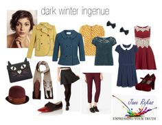 """dark winter ingenue"" by expressingyourtruth ❤ liked on Polyvore featuring Carven, Tory Burch, CC, Dorothy Perkins, MANGO, Alice & You, Kate Spade Saturday, Marni, Little Mistress and Betsey Johnson"