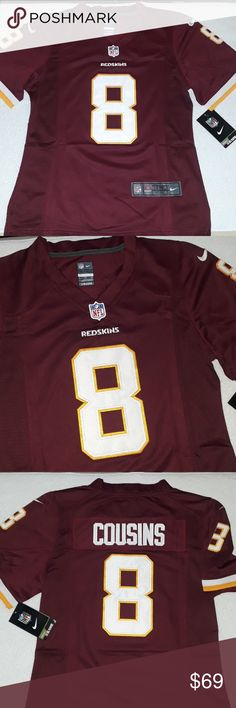 Kirk Cousins Washington Redskins Women's Jersey Stitched n Embroidered.    sz. Small Nike Tops