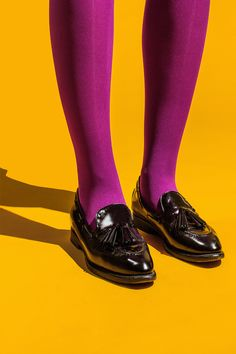Contrast colours yellow and magenta. From where I stand. Contrast Photography, Yellow Photography, Fashion Photography, Purple Yellow, Magenta, Mystic Girls, Shoe Art, Color Theory, Colorful Fashion