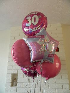 My Birthday balloons - Interflora 30th Birthday Balloons, 30th Birthday Parties, Birthday Celebrations, Party, Ideas, Anniversary Parties, Fiesta Party, Parties, Thoughts