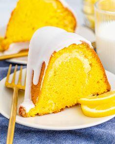 Lemon Cream Cheese Bundt Cake Lemon Icebox Cake, Lemon Bundt Cake, Lemon Loaf, Lemon Curd, Pound Cake, Lemon Dessert Recipes, Dessert Dips, Lemon Recipes, Ww Recipes