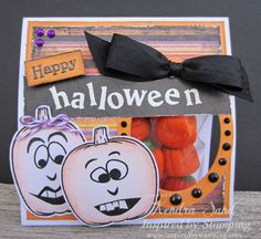 Inspired by Stamping, Kendra Sand, Pumpkin Faces, Halloween treat bag, gift ideas, Halloween ideas