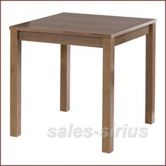 Square Dining Table Small Kitchen Wooden Room Wood Bistro Walnut Breakfast Diner | eBay