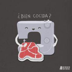 Bien cocida by Wawawiwa design, via Flickr #learn #spanish #jokes