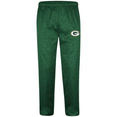 Support your favorite football team with these pants from Majestic. 100% Polyester, these pants feature a reflector team logo on the left leg, waistline with drawcord, and contrast color side seam pockets. Standard men's sizes. #greenbaypackers #packers #nfl