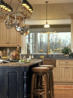 White Glazed Cabinets With Black Island Design, Pictures, Remodel, Decor and Ideas - page 2