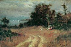 """Sandy Hollow, Manchester, Massachusetts,""  Willard Leroy Metcalf, 1877, oil on canvas, La Salle University Art Museum."