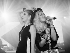 Cara Delevingne and Rita Ora at DKNY