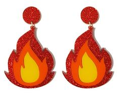 Flame Earrings – yippywhippy