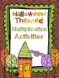 Halloween Themed Multiplication Activities - Ashleigh's Education Journey. Why not spice up your multiplication unit with a little Halloween fun? This product includes five multiplication lessons with a Halloween theme. There is a color version and a black and white version included.