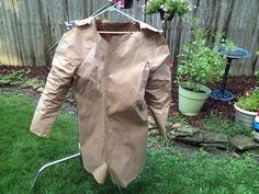 First Big Project on DIYNetwork.com. Check out my Rustoleum NeverWet Raincoat made out of paper.