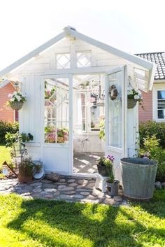 Backyard Greenhouse Shed . Backyard Greenhouse Shed . 32 Affordable Garden Shed Plans Ideas for You Backyard Greenhouse, Greenhouse Plans, Small Greenhouse, Portable Greenhouse, Backyard Sheds, Window Greenhouse, Homemade Greenhouse, Greenhouse Wedding, Large Backyard