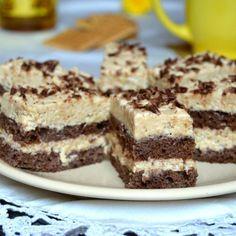 Prăjitură cu blat de cacao și cremă de biscuiți. Desert ușor de pregătit. Tiramisu, Biscuit, Cheesecake, Desert Ușor, Ethnic Recipes, Desserts, Orice, Food, Sweet Treats