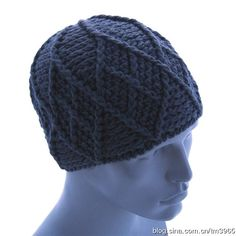 Men's Crochet Hat Diagram ~ [转载]男士钩针帽