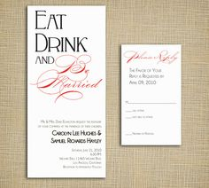 ...Be Married Wedding Invites