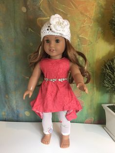 A personal favorite from my Etsy shop https://www.etsy.com/listing/265855308/american-girl-coral-handkerchief-dress