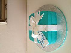 Tiffany baby shower cake