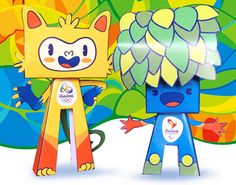 Rio 2016 Brazilian Olympic Mascots Ver.2 Free Paper Toys Download
