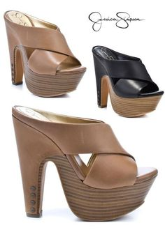 I love Jessica Simpson shoes! Fab Shoes, Dream Shoes, Crazy Shoes, Cute Shoes, Wedge Shoes, Me Too Shoes, Ankle Boots, Shoe Boots, Heeled Mules