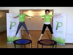 Pilardio Training auf dem bellicon® Mini-Trampolin