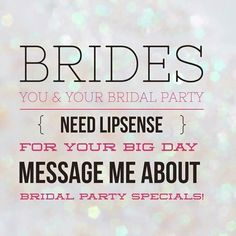 Your big day needs Lipsense!