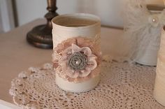vintage inspired painted tin can vases, wedding fa