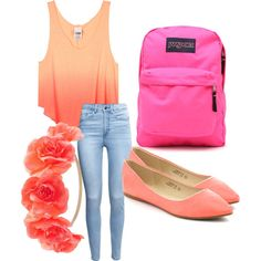 Outfit for school by maddieje on Polyvore featuring polyvore, fashion, style, H&M, JanSport and Charlotte Russe