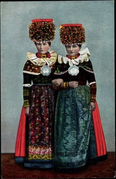 Schwalm-Hessen, Germany. Traditional costumes.