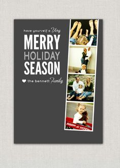 Filmstrip Christmas Photo Card
