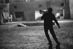 """Fredrico Fellini on the Set of """"Satyricon,"""" Rome, 1969"""