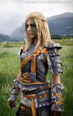 April Gloria as Mjoll the Lioness Cosplay The Elder Scrolls TES V Skyrim Lwica Mjoll