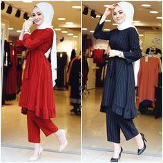 muslim girls outfit with hijab and kurti dress Abaya Fashion, Muslim Fashion, Modest Fashion, Skirt Fashion, Sexy Outfits, Girl Outfits, Fashion Outfits, Diy Fashion, New Hijab
