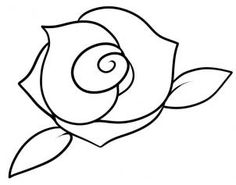 flowers how to draw a rose for kids - Simple Kid Drawings