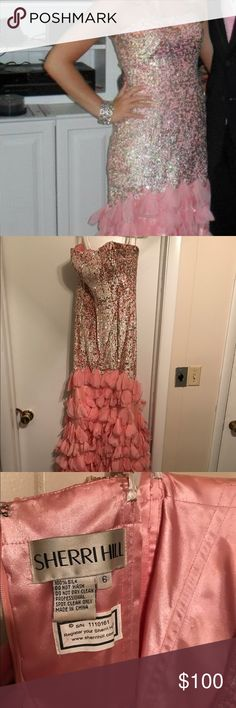 Sherri Hill prom dress Size 6 Sherri Hill prom dress, worn once. Some petals from the bottom have fallen off but otherwise great condition Sherri Hill Dresses Prom