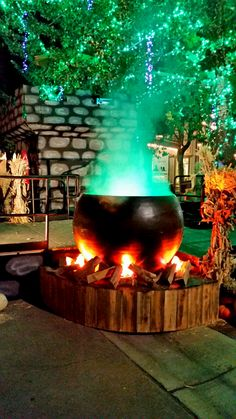 The witches cauldron at Witches Night Out at Gardner Village! Halloween Decorations For Kids, Halloween Porch, Halloween Birthday, Outdoor Halloween, Diy Halloween Decorations, Holidays Halloween, Spooky Halloween, Happy Halloween, Halloween Outside
