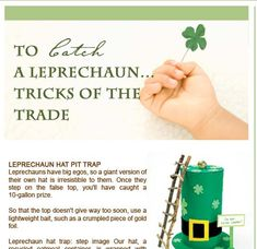 Cute things to do with the kids for St. Patricks Day!!