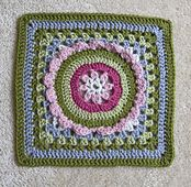 """Ravelry: Mother's Corsage - 12"""" square pattern by Melinda Miller"""