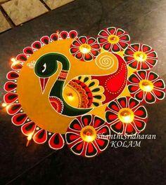 51 Diwali Rangoli Designs Simple and Beautiful Rangoli Designs Peacock, Best Rangoli Design, Easy Rangoli Designs Diwali, Indian Rangoli Designs, Rangoli Designs Latest, Simple Rangoli Designs Images, Rangoli Patterns, Free Hand Rangoli Design, Small Rangoli Design