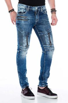 Cipo and Baxx Jeans for men and women. Cipo and Baxx Designer jeans wear made in Turkey Ripped Jeans Men, Biker Jeans, Jeans Fit, Casual Jeans, Jeans Style, Stylish Mens Outfits, Cool Outfits, Men Trousers, Tactical Clothing