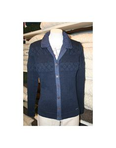 Blue Willi's Classic Cardigan in 100% pure cotton. Machine washable Danish knitwear, it's durable and stylish. Ideal for Spring/Summer evening walks. Summer Evening, Spring Summer, Denim Button Up, Button Up Shirts, Danish Design, 100 Pure, Walks, Knitwear, Stylish